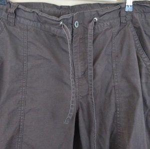 Columbia GRT Tie Waist Cargo Pants Brown Sz 14